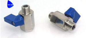 1/2en acero inoxidable (316) con rosca hembra Mini válvula de bola Fxf BSP