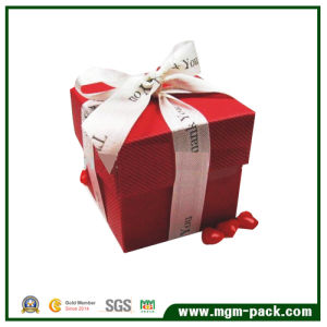 Het uitstekende Vierkante Rode Vakje van het Document van de Gift van de Chocolade van de Verpakking
