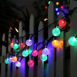 De Kabel van de Partij van de LEIDENE Bol van de Bel steekt de ZonneLichten van het Koord voor de Decoratie van de Wandelgalerij van de Staaf van de Club van de Partij van de Verjaardag van het Festival van Kerstmis aan