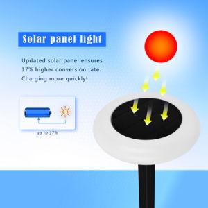 De luz RGB Solar jardín lámpara solar con coloridas luces