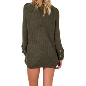 女性の方法セーターの余暇のV首のニットウェア