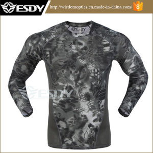 3 camice di secchezza di velocità stretta tattica esterna del camuffamento di Esdy di colori