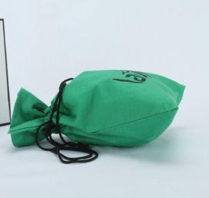 印刷されたロゴ再生利用できる袋が付いている緑によってカスタマイズされる綿の袋