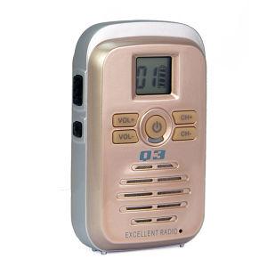 子供の携帯無線電話Q3の小型携帯用対面ラジオ