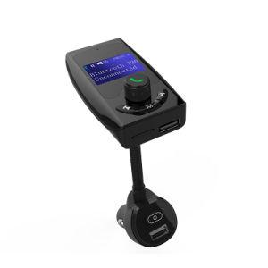 Bluetooth車FMの送信機の可聴周波アダプターの受信機の無線ハンズフリーの電圧計車キットTFのカードの補助の1.44表示