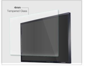 Yashi Teclado inalámbrico y al ras en la pared Smart Touch LCD interactiva a la pizarra