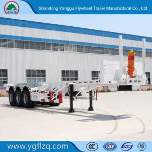 Het hete zelf-Dumpt Koolstofstaal van de Verkoop 2/3 Aanhangwagen van de Container van het Skelet van Assen voor Vervoer van de Container 20/40FT