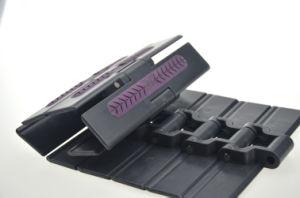 ISO Anti-Skid Chaîne à dessus plat en plastique avec patin caoutchouc