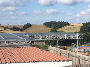 Estructura del techo de la luz de acero para la construcción de tragaluz Xgz Design 567.