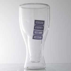 Nuove tazze/tazza di vetro doppie popolari di vetro cristalleria delle tazze