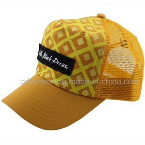 Construído Applique Bordados Imprimir Sport Mesh Caminhoneiro Hat (TRT13005)