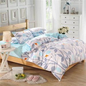羽毛布団カバー枕箱が付いている印刷されたMicrofiberファブリック寝具セット