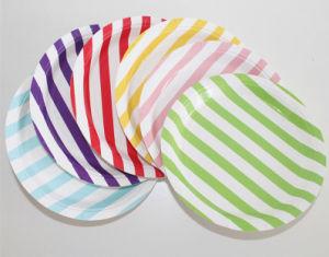 Haute qualité à rayures colorées des plaques de papier de qualité alimentaire