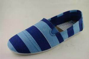 Nuevo estilo de moda barata señoras Slip-on Zapatos de lona de inyección
