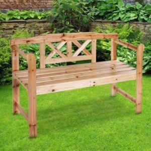 木2-Seater木の庭のベンチ
