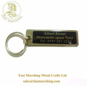 Ordem de boa qualidade personalizado Corte bordadas Tech Keychains em branco de Espuma