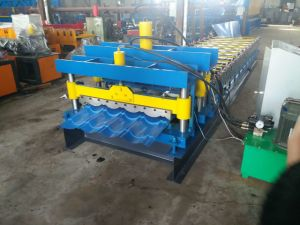 Aluzinc bâtiment vitrage rendant la construction de tuiles fabricant machine de formage