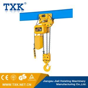 7,5 tonne palan électrique à chaîne avec crochet de suspension
