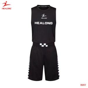 Healongメンズ新式のカムフラージュのバスケットボールジャージー
