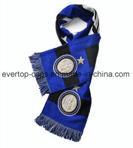 ジャカードフットボールのスカーフ、フットボールのファンのためのスカーフ