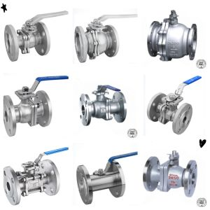 산업 스테인리스는 벨브 Pn16/150lb/300lb 공 플랜지를 붙였다