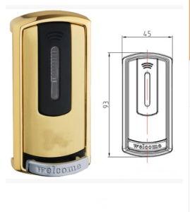Liga de zinco Hotel Pas/Sauna Sauna de Smart Card inteligente armário eletrônico de bloqueio de direcção