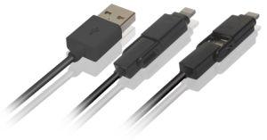 Фги Certified 2 в 1 Многофункциональный USB кабель от воздействий молнии с микро для смартфонов