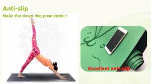 Het de Superieure Greep en Absorbeermiddel van de Mat van de Yoga van de Groepering van het Natuurlijke Rubber van Pu