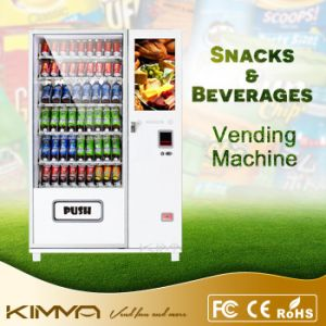 Tela de Toque grossista máquina de venda de lanches e refrigerantes