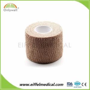 La protección de deportes de 2.5cm*4,5 millones de gasa de algodón elástico Venda cohesiva autoadhesivas