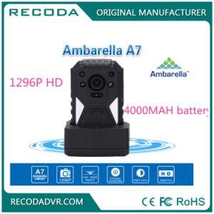 Volle HD 1296p Ambarella Polizei-Karosserie getragene Kamera 12 Stunden 4000mAh Batterie-