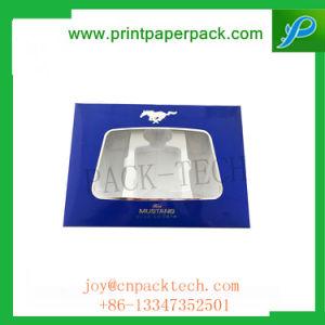Lujo personalizadas de papel rígido de cartón con ventana Caja de regalo para las cajas de plástico