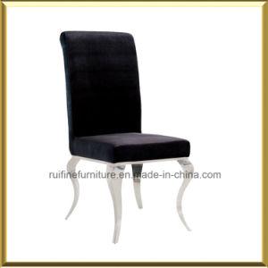 Muebles de comedor francés moderno Set / acero inoxidable cromado negro gris Louis Sillas, Mesa De Comedor
