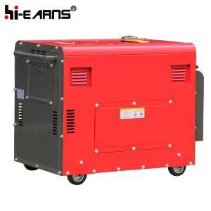 De luchtgekoelde Enige Diesel van de Cilinder Reeks van de Generator In drie stadia (DG6500SE)