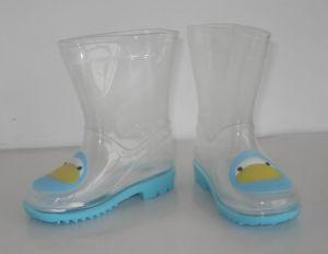 De Laarzen van de Regen van pvc van transparante Jonge geitjes, Laars van de Regen van Kinderen de Transparante