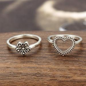方法6PCS旧式な中心の花のダイヤモンドの王冠の接合箇所のリング