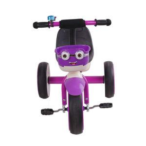 Três Wheeler Kids aluguer de brinquedos de crianças de metal de triciclo com luz