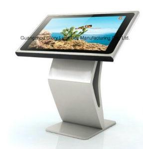 IR 접촉 스크린을%s 가진 선수를 광고하는 LCD를 서 있는 19 인치 자동적인 지면
