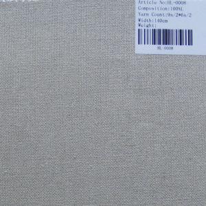 Tissu de lin pur canapé HL-0008