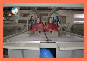 El drenaje del tubo de PVC de doble línea de extrusión