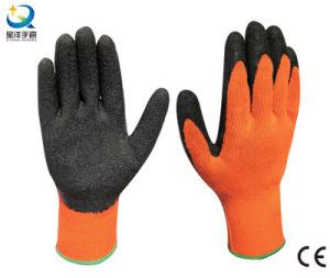 テリーのうたた寝のライニングの乳液やしによって塗られる作業手袋
