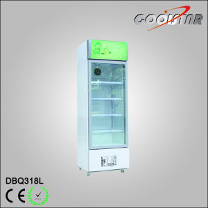 Refroidissement par ventilateur vertical facultatif un porte en verre de réfrigération Showcase (DBQ-318L)