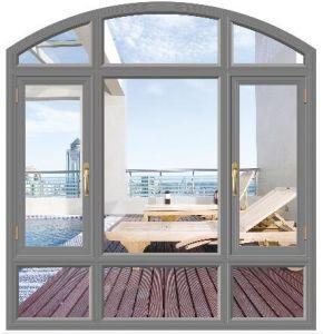 고품질 열 틈 활 모양으로 한 상단 (ACW-047)를 가진 알루미늄 여닫이 창 Windows