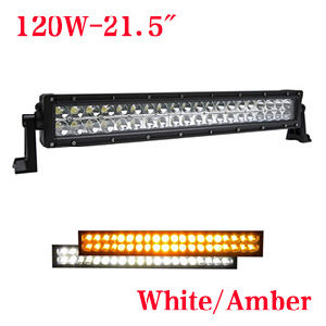 120W LED de color doble luces off-road, de 21,5 pulgadas anti niebla de la barra de luz LED, luces de coche High-Power