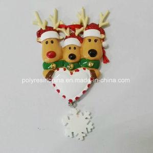 Het Ornament van Kerstmis van het Hart van de Vorm van de Liefde van Polyresin