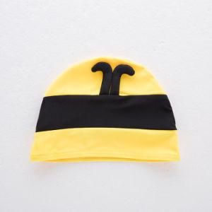 高品質の帽子が付いているかわいい蜂の赤ん坊の水着の女の子の二つの部分から成った水着
