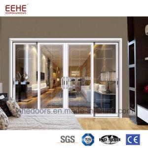 Binnenland van de Schuifdeuren van het Glas van het Profiel van het aluminium het Dubbele