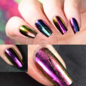 Chameleon хромированные Блестящие цветные лаки лак для ногтей гелем польский пигмента порошок