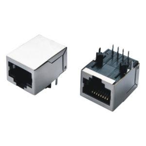 磁気10/100のベースT統合された1X1 8pin RJ45コネクター