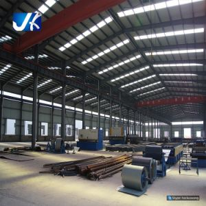 Le costruzioni d'acciaio chiare della costruzione hanno prefabbricato il magazzino della struttura d'acciaio